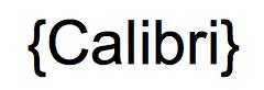tipografia calibri