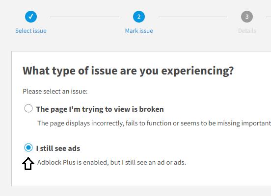Ejemplo de lista negra de bloqueador de anuncios